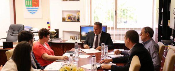 Întâlnirea conducerii Consiliului Județean Călărași cu cea a firmei Tenaris Silcotub