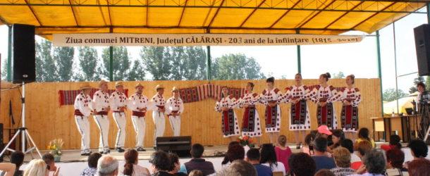 """Ansamblul """"Bărăganul""""  –  spectacol extraordinar  la Ziua  Comunei Mitreni"""