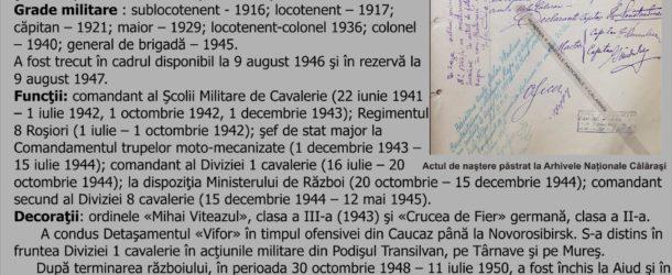 MARI PERSONALITĂŢI CĂLĂRĂŞENE – PERSONALITATEA LUNII IUNIE – General VLADIMIR CONSTANTINESCU