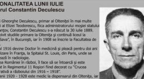 MARI PERSONALITĂŢI CĂLĂRĂŞENE PERSONALITATEA LUNII IULIE – Doctor CONSTANTIN DECULESCU