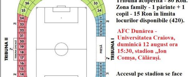 S-au pus în vânzare biletele pentru meciul cu Craiova