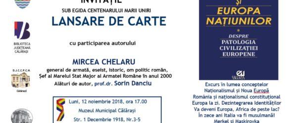 """Lansare carte Mircea Chelaru-,,Naționalismul și Europa națiunilor"""""""
