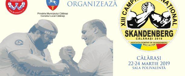 COMUNICAT DE PRESĂ Privind organizarea Campionatului național de Skandenberg, la Călărași, în weekendul 22-24 martie