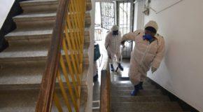 Demararea acțiunii de dezinfecție la scările de bloc