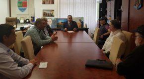 Întâlnire între președintele Consiliului Județean Călărași, Vasile Iliuță, și patronul echipei Mostiștea Ulmu, Vasile Tîrșolea