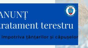 Nou tratament de dezinsecție contra țânțarilor și căpușelor
