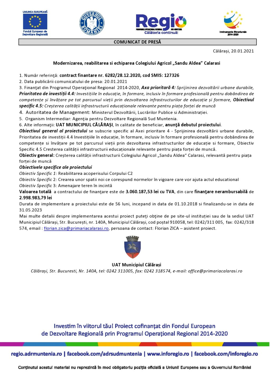 3. Comunicat presa S.Aldea 127326 - 20.01.2021