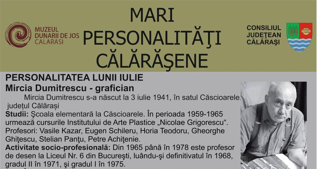 Personalitatea Lunii Iulie Mircia Dumitrescu